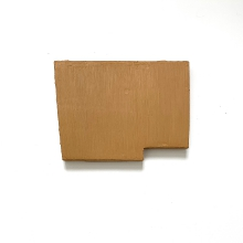 #560, Landscape rectangle with missing corner at bottom right and slanted left side in ocher